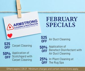 February 2021 Armstrong Cleaning Specials
