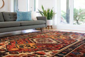 oriental rug drying