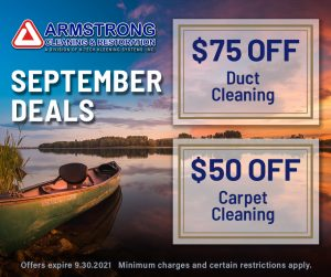 September 2021 Armstrong Cleaning Specials