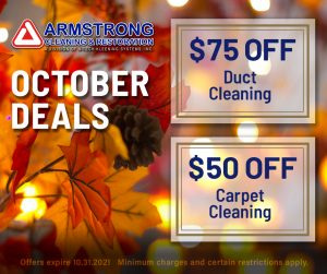 October 2021 Cleaning Specials